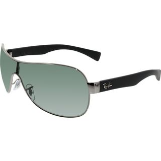 Ray-Ban Men's Highstreet RB3471-004/71-32 Gunmetal Shield Sunglasses
