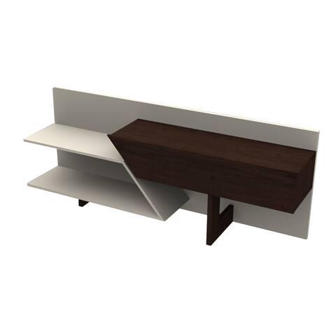 Prisma Off-white/Espresso Wood TV Cabinet