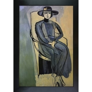 La Pastiche by overstockArt Portrait Of Greta Prozor by Henri Matisse with New Age Wood Frame,