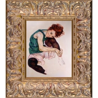 Egon Schiele The Artist's Wife Hand Painted Oil Reproduction