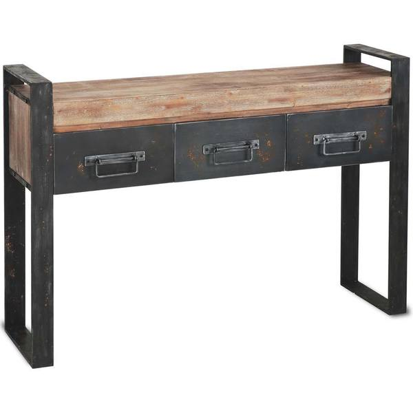 Mercana Carga Black Wood Console Table