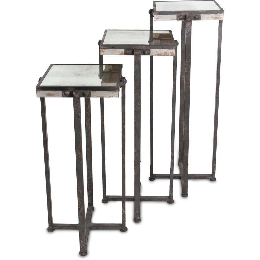 Mercana Marshalls Black Metal 3-piece Accent Table Set (A...