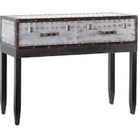 Mercana Mcinnes Silvertone Metal Console Table