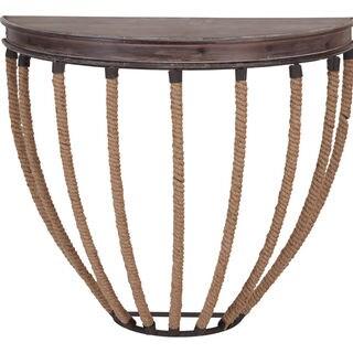 Mercana Bellemount Brown Wood Accent Table