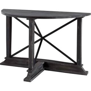 Mercana Boulanger II Black Wood Console Table