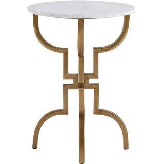 Mercana Crayton I White Marble Accent Table