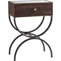 Mercana Strattanville Brass Wood Accent Table