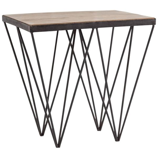 Mercana Cuspis Brown Wood/Metal Accent Table