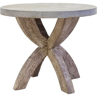 Mercana Edgeware Silver Wood Accent Table