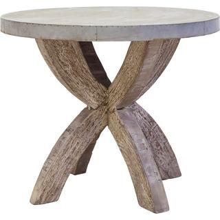 Mercana Edgeware Silver Wood Accent Table
