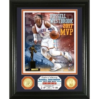 """NBA - Russell Westbrook """"2017 NBA MVP"""" Bronze Coin Photo Mint - Multi-color"""