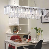 Ivar 5-Light Crystal Chandelier - Chrome Finish