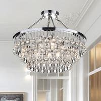 Arosa 9-Light Chrome Semi Flush Mount - Chrome Finish
