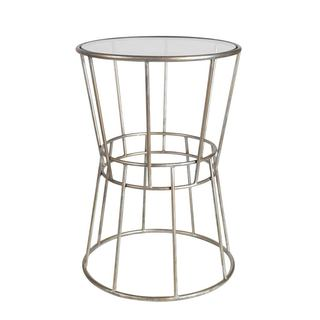 Mercana Galeon I Silver Metal Accent Table