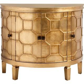 Mercana Romers I Goldtone Finish Wood Cabinet
