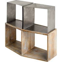 Mercana Acervius I Brown Wood Media Bookcase
