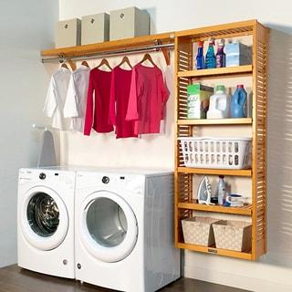 Honey Maple Wood Laundry Organizer