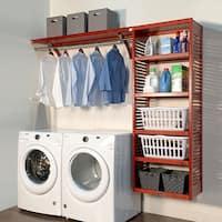 John Louis Home 16in deep 8ft. Laundry Organizer Red Mahogany