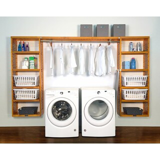 John Louis Home Brown Wood Laundry Organizer