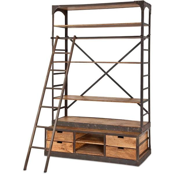 Mercana Brodie Ii Brown Metal Shelving Unit