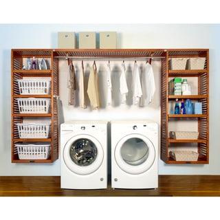 John Louis Home PREMIUM 16in deep 10ft. Laundry Organizer Caramel