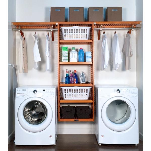 John Louis Home 16in deep 10ft. Laundry Organizer Caramel