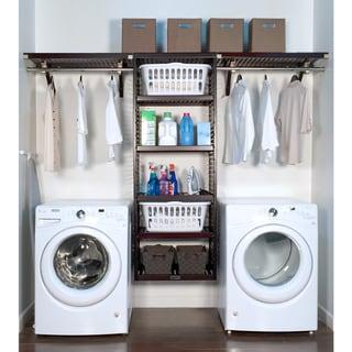 John Louis Home 16in deep 10ft. Laundry Organizer Espresso