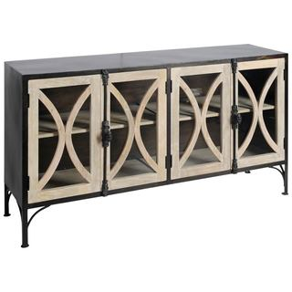 Mercana Constance II Black Wood Cabinet