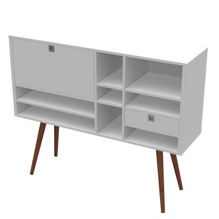 Ideaz International White Satin Wooden Cubby Console