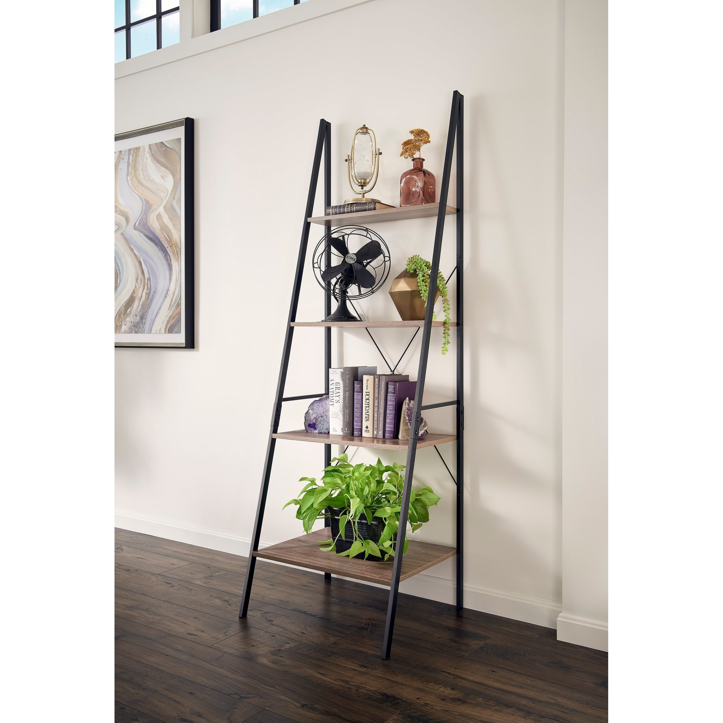 Carbon Loft Morse Industrial Ladder Bookshelf - Thumbnail 0