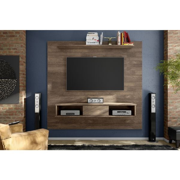shop barcelona mid century two shelf 70 inch tv board free shipping today. Black Bedroom Furniture Sets. Home Design Ideas