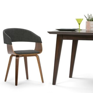 WYNDENHALL Calinda Mid Century Bentwood Dining Chair in Charcoal Grey