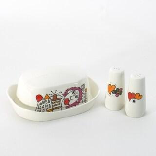 Eclipse Porcelain Codriez Salt & Pepper Set with Butter dish