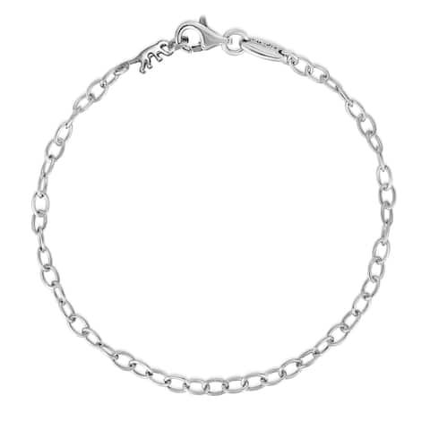 Kipling Sterling Silver Cable Chain Bracelet - 18 Cm (7 1/8 Inch).