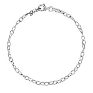 Kipling Sterling Silver Cable Chain Bracelet - 18 Cm (7 1/8 Inch).