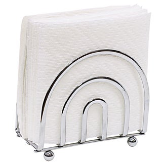 Home Basics Chrome Plated Steel Napkin Holder