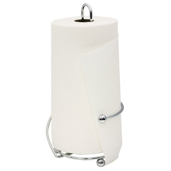 Home Basics Chrome Plated Steel Wire Collection Paper Towel Holder. Opens flyout.
