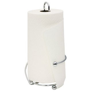 Home Basics Chrome Plated Steel Wire Collection Paper Towel Holder