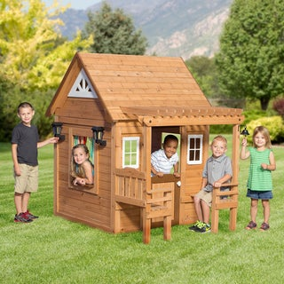 Backyard Discovery All Cedar Cascade Playhouse