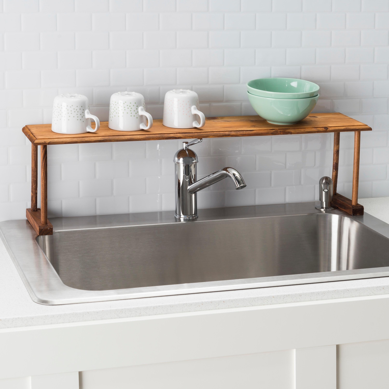 Shop Home Basics Pine Over The Sink Shelf On Sale Overstock