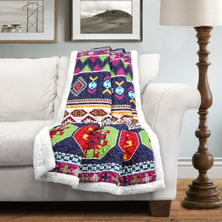 Lush Decor Sanora Sherpa Throw