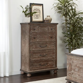 Saratoga 5 Drawer Reclaimed Wod Chest by Black Dog Salvage