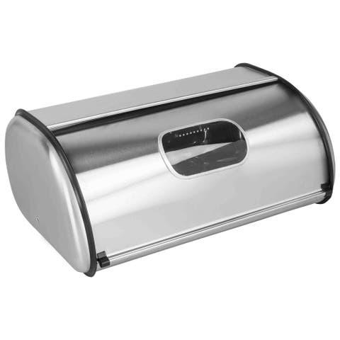 Home Basics Stainless Steel Bread Box