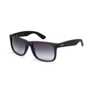 Ray Ban Justin RB4165 Unisex Black Frame Grey Gradient Lenses Sunglasses