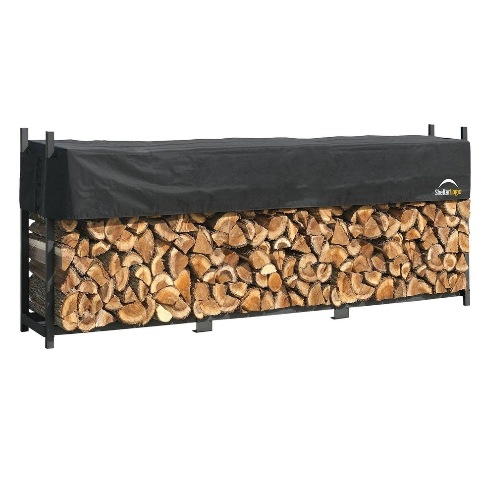 ShelterLogic Ultra Duty Firewood Rack with Cover (Ultra D...