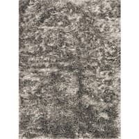 Hand-woven Seville Taupe Shag Rug - 5' x 7'6
