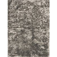 Hand-woven Seville Taupe Shag Rug - 3'6 x 5'6