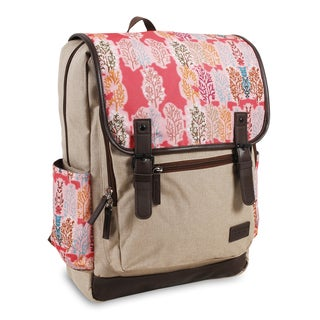 J World New York Franklin Pink Forest 15-inch Laptop Backpack