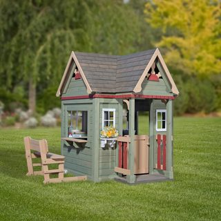Backyard Discovery Victorian Inn All Cedar Wood Playhouse & Playhouses u0026 Play Tents For Less | Overstock.com