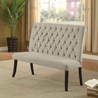 Link to Furniture of America Sheila Contemporary Button Tufted Chenille 2-seater Dining Bench Similar Items in Dining Benches